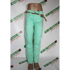 Джинсы на девочку Зеленые 116 см